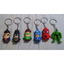 Chaveiro Super Heroes Batman Super Homem, Spiderman E Outros