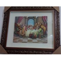 Quadro Santa Ceia Arte Francesa 65 X 75 Promoção
