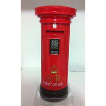 Miniatura Caixa Correios Londres Retro Cofre Moedas Plastico