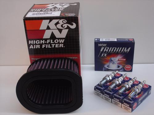 Filtro Ar K&n Velas Iridium Ngk Z750 Z800