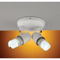 Luminaria De Teto Spot De Sobrepor 2 Luzes Direcionável E27