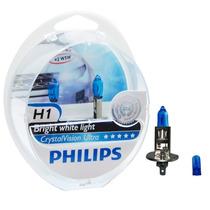 Kit Lâmpada Philips Crystal Vision Ultra H1 55w-12v 4300