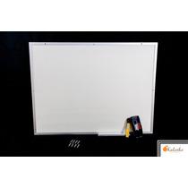 Lousa Quadro Branco Moldura De Aluminio 120x100 Cm + Brindes