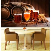 Adesivo Papel Parede Cerveja Cozinha Churrasqueira Bar M13