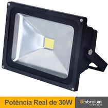 Refletor De Led - Holofote Branco Frio 30w - Ip65 Bivolt