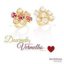 Anel Feminino F Ouro 18k Joia Rosa Ou Branca Rommanel 512128