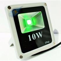 Refletor Led Slim Holofote Led 10w Verde Bivolt !!!