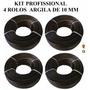 Kit 4 Rolo Fibra Sintetica Junco Argila De 10mm Frete Gratis