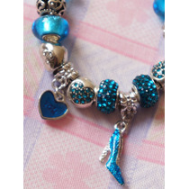 Pulseira Pandora Com Berloques Pingente Bracelet Prata