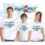 Camiseta Smurfs Aniversário Personalizada Kit Com 3