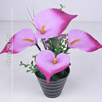 Arranjo Copo Leite 25 Cm Diversas Cores - Flores Artificiais