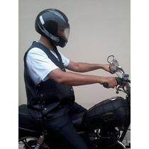 Colete Couro Para Motociclista (motoclube E Motogrupo)