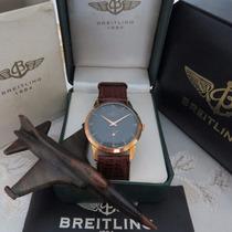 Relógio Breitling Vintage Ouro Vermelho 18k - Mint Magnífico