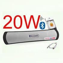 Caixa Som Portatil Bluetooth 20w Stereo Extra Bass Ipad Usb