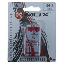 Bateria Mox Recarregável 9v 340 Mah Original Rádio Controle