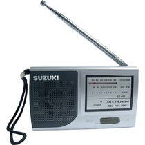 Mini Radio Am Fm Suzuki - Sz-557 Portátil - Blister Lacrado