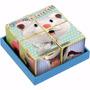 Cubos De Madeira Quebra Cabeça Gatinho, Cachorro E Porquinho