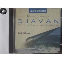 Cd Djavan Homenagem Por De Luiz Avelar Piano - Lacrado - G7