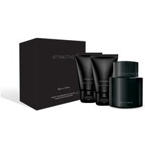 Perfume Attractive + Pós-barba + Shower Gel - Água De Cheiro