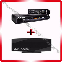 Kit Conversor Tv Digital Aquario + Antena Hd * Amplificada *