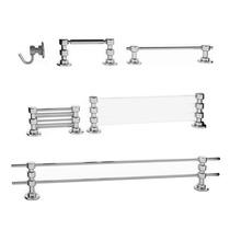 Kit Para Banheiro 6 Peças - 100% Inox E Vidro