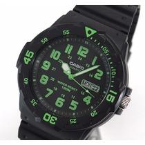 Relógio Casio Mergulho Mrw-200 H-3 Calendário Wr100 Metros P