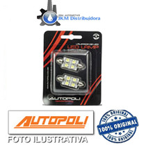 _led Lamp Torpedo 42mm 4 Leds 12v 10w Branco (par) Autopoli