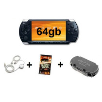 Psp Sony + 64gb + Case + Fone + Jogo + Película + Frete.