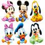 12 Disney Baby Mickey Minnie Decoração Festa Display Mesa