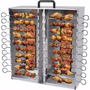 Assador Duplo Para 20 Espetinhos A Gás Em Aço Inox Arke