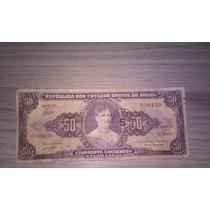Nota Antiga De 50 Cruzeiros - Princesa Isabel - Curitiba