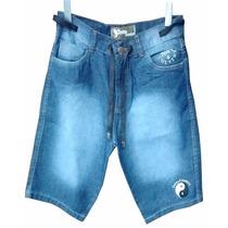 Bermuda Jeans Masculina Tony Country Mesclado Com Cordão