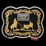 Fivela Laço Em Dupla Fundo Negro - Cowboy Brand 12112 - Únic