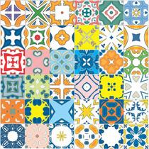 Adesivo Azulejos Ladrilhos Hidráulico 36 Unidades