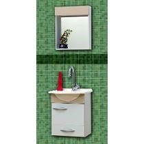 Toucador 35cm Pia/espelho Branco Bonatto