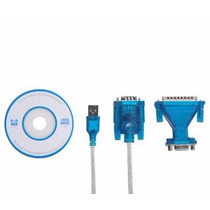 Kit Cabo Conversor Usb P/ Serial Rs232 Macho+ Adaptador Db9!