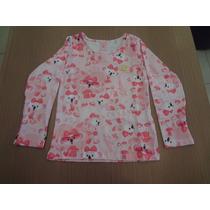 Blusa Lilica Ripilica Meia Malha Stretch Estampado - Rosa.