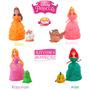 Kit 4 Bonecas Magiclip Princesas Disney + 4 Bichos Brinquedo