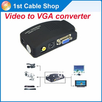 Adaptador Conversor Transcoder Rca S-video P/ Monitor Vga
