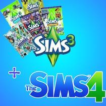 The Sims 3 Com Todas Expansões + The Sims 4 Com Expansões.
