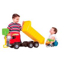 Caminhão De Brinquedo Super Caçamba Vermelho - Magic Toys