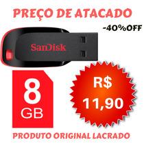Pendrive 8gb Sandisk Promoção Oferta Atacado