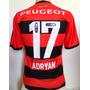 Camisa Flamengo Adidas Jogo 2013 / 2014 Adryan #17 Rara