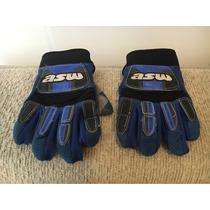 Par De Luvas Para Motocross Asw Azul M