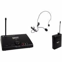 Microfone Sem Fio Headset Auricular De Cabeça Uhf Skp