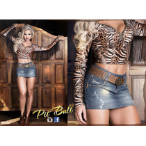 Saia Pit Bull Jeans Original Levanta E Modela Bumbum !!!!