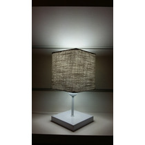 Lustre Abajur Luminária De Messa Quarto Md-2008 Linho Cinza