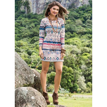 Vestido Estampa Étnica - Barato