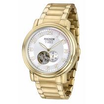 Relógio Magnum Masculino Automático Ma33915h Dourado Nf