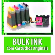 Bulk Ink Hp P/ Impressora C3180 + Cartucho 92 E 93 Adaptado.